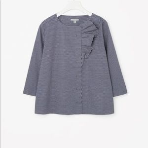 COS Blouse With Bow Size Large